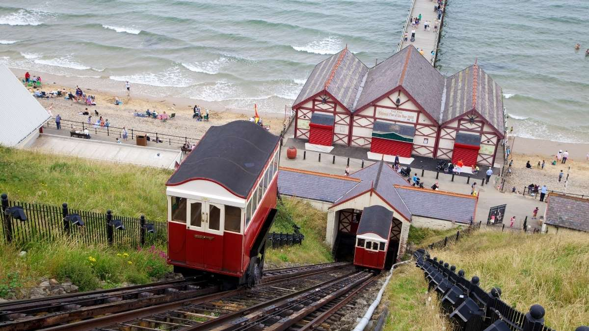 Saltburn Cliff Tramway and Pier