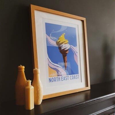 Lemon Top, North East Coast Travel Print, Limited Edition