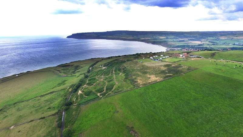 Cinder Trail to Robin Hoods Bay View