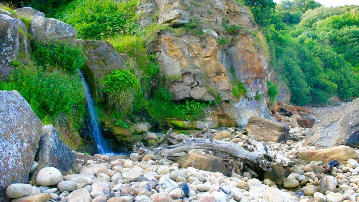 Hayburn Wyke Waterfall In The North York Moors
