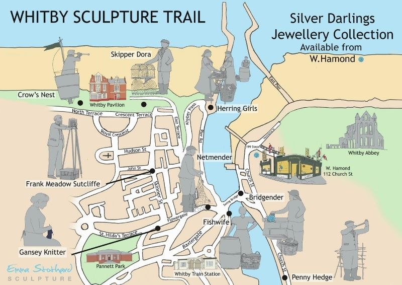 Whitby Sculpture Trail Map